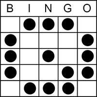 the clock bingo patterns is best described as a large circle patterns on which in the bottom right hand corner of your bingo ticket the hands of the clock