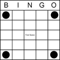 four corners bingo